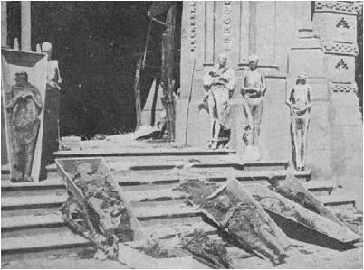 Momias en las calles de Barcelona.