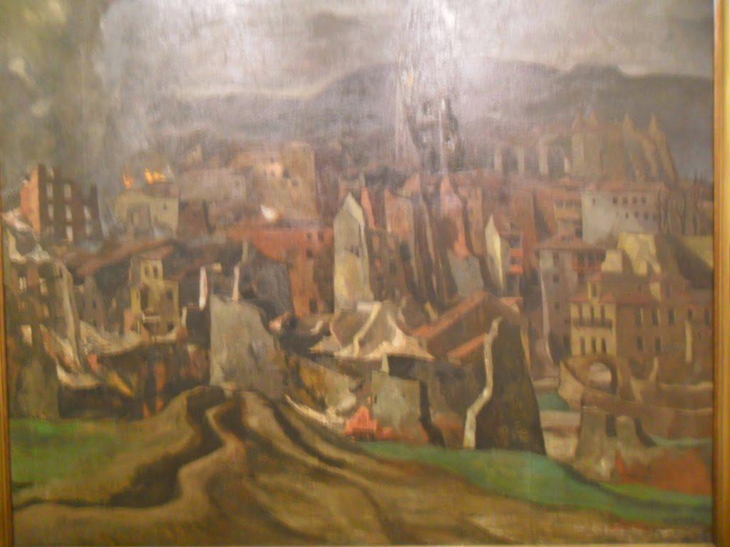 Obra de Vaquero Palacios. Oviedo bajo las bombas