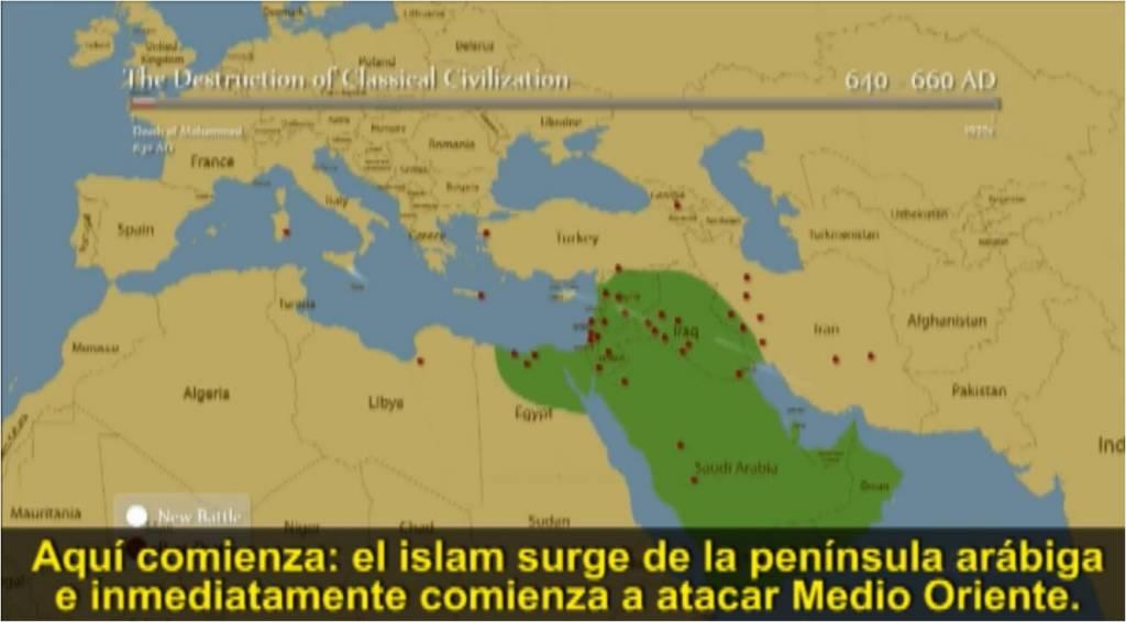 El Islam surge de la península arábiga