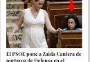 Zaida Cantera, nueva portavoz de Defensa en el Congreso, recibe su primera andanada desde el propio PSOE
