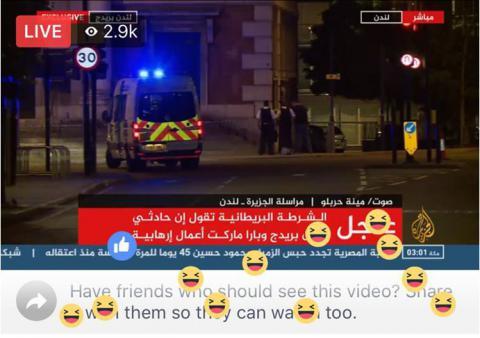 Los espectadores de Al Jazeera celebran el atentado en Londres.
