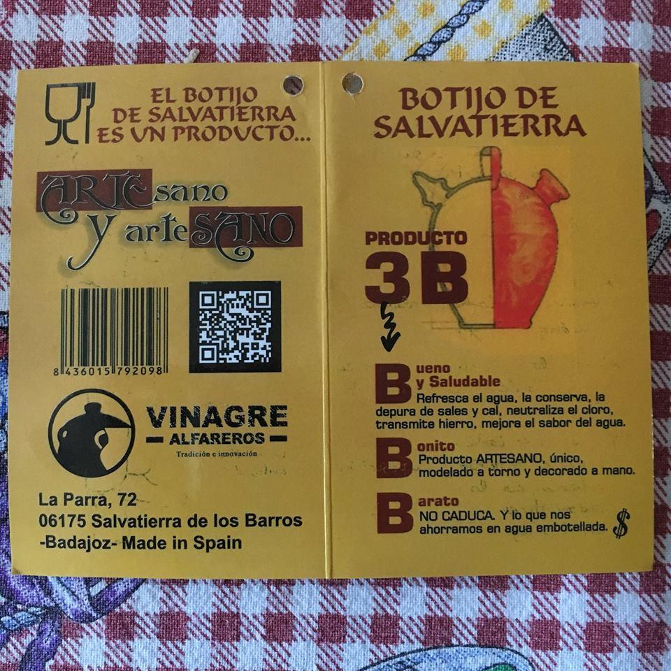 Manual de instrucciones del botijo de Salvatierra