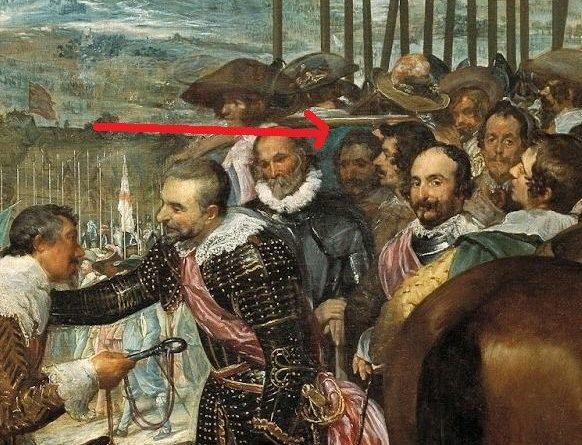 """Por cierto, Iñigo Balboa existió realmente. Estuvo en las guerras de Flandes y fue alférez de los Tercios y teniente de los correos reales. Sus memorias fueron usada por Pérez Reverte como fuente para sus libros. Incluso el capitán Alatriste pudiera haber existido. Según las novelas de Pérez Reverte, está retratado en la Rendición de Breda aunque esto no está claro. En el hueco donde en los libros se dice que está sólo hay un relleno de azul. Según se cita en el Sol de Breda:  """"Bajo el caño horizontal del arcabuz que el soldado sin barba ni bigote sostiene al hombro""""."""