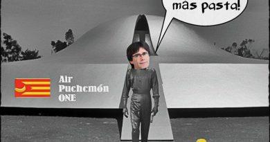 Basta de financiar el estilo de millonetis de los politicastros catalanes. ilutsración de Linda Galmor