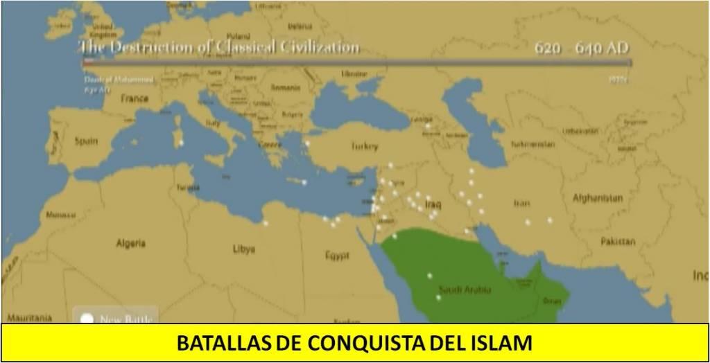 batallas de conquista del Islam
