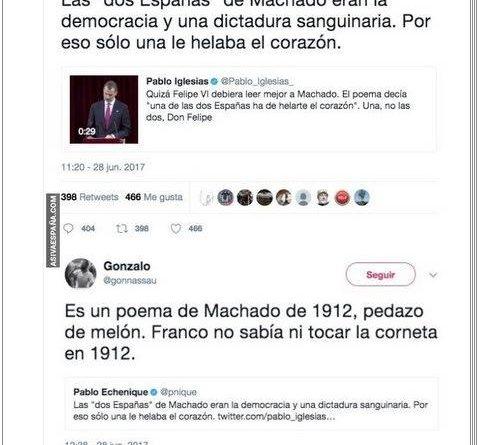manipulación de los versos de Antonio Machado o desconocimiento