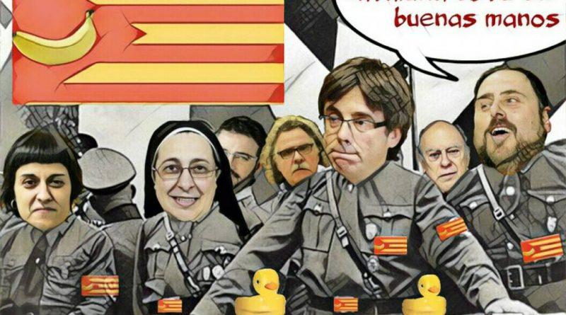 Comunidad Autónoma en bancarrota y sus dirigentes pasándose de listos para no ir al trullo. Ilustración de Linda Galmor