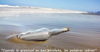 Gracias por leer el mensaje en la botella que cada día lanzamos desde La Paseata. Por Manuel Artero