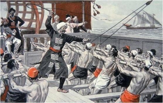la mayoría de los esclavos los obtenían atacando barcos