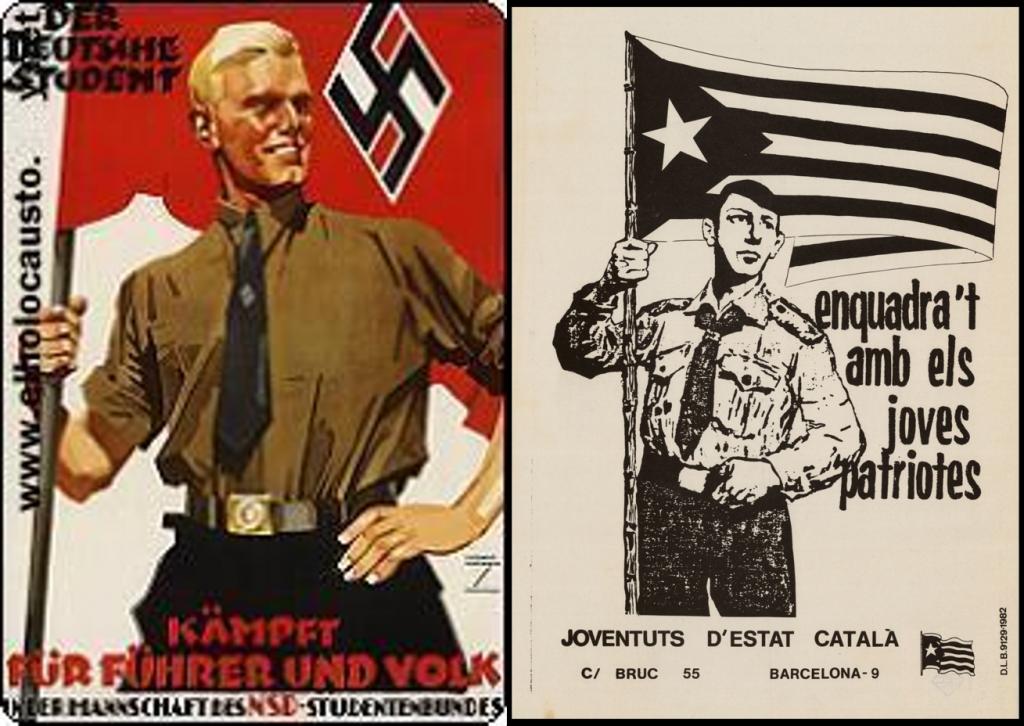 Nazis y separatistas catalanes
