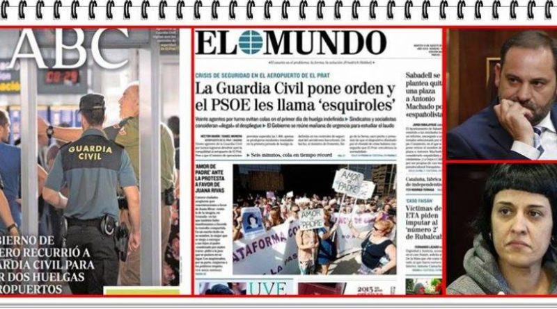 José Luis Ábalos, denunció ayer que el uso de la Guardia Civil para garantizar la operatividad del aeropuerto de El Prat