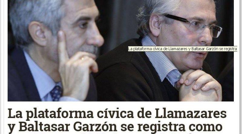 La Plataforma cívica de Llamazares y Garzón se registra como Partido en el Ministerio del Tiempo