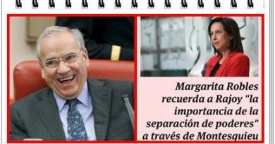 La separación de los tres poderes y Margarita Robles