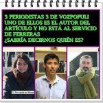 ¿Sabría decirnos quién de estos tres periodistas de Vozpópuli no está al servicio de Ferreras?