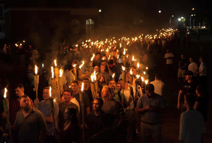 Marcha de supremacistas blancos en Charlottesville