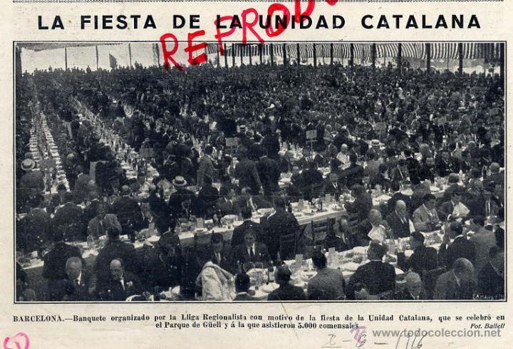 Barcelona 21 de mayo de 1916. Fiesta de la unidad catalana. Parque Güell