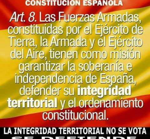 El art. 8 de la Constitución. la intervención de las Fuerzas Armadas