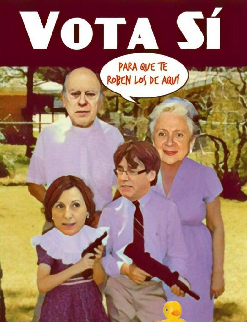 El general Pujol y familia- Ilustración de Linda Galmor