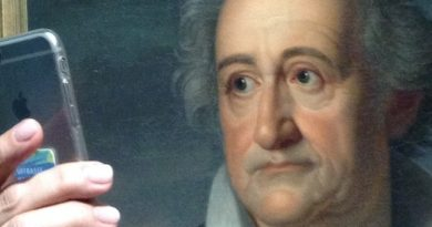 Goethe Selfie. Wallraff-Richartz-Museum. Cologne. Anke von Heyl.