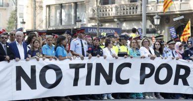 La manifestación en Barcelona contra los atentados