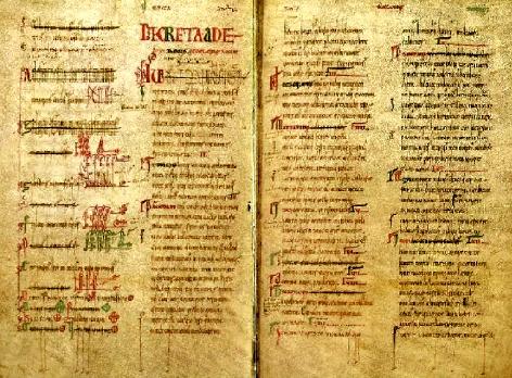 Los Decreta de León, dictados y aprobados en las Cortes de 1188 con el voto del pueblo.