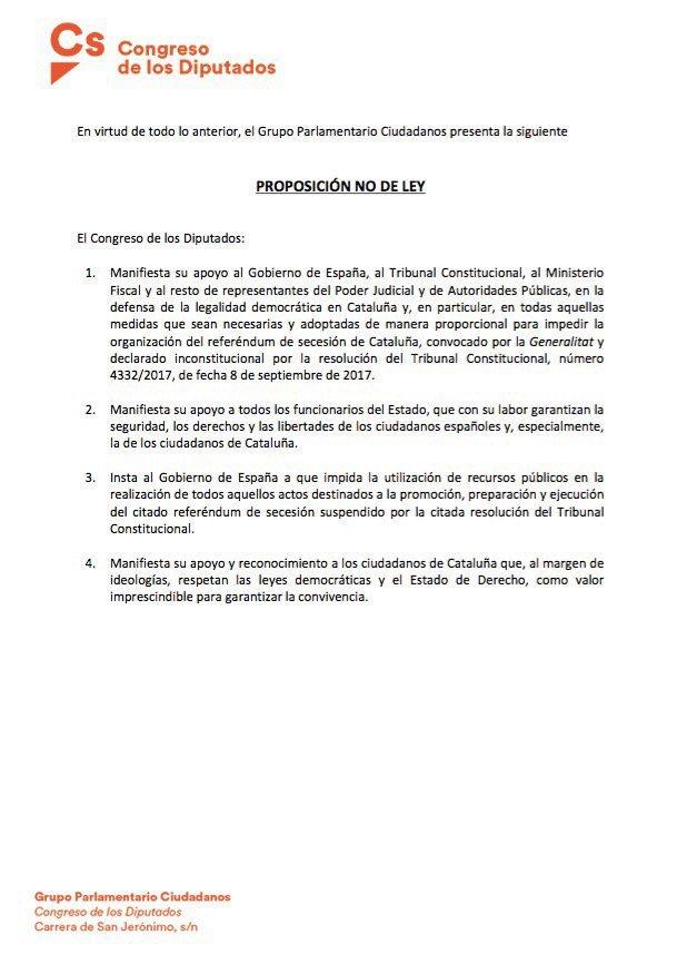 Los españoles queremos saber porque rechazan defender nuestras libertades y el Estado de Derecho