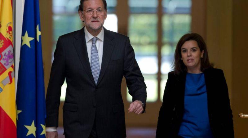 Mariano Rajoy junto a Soraya