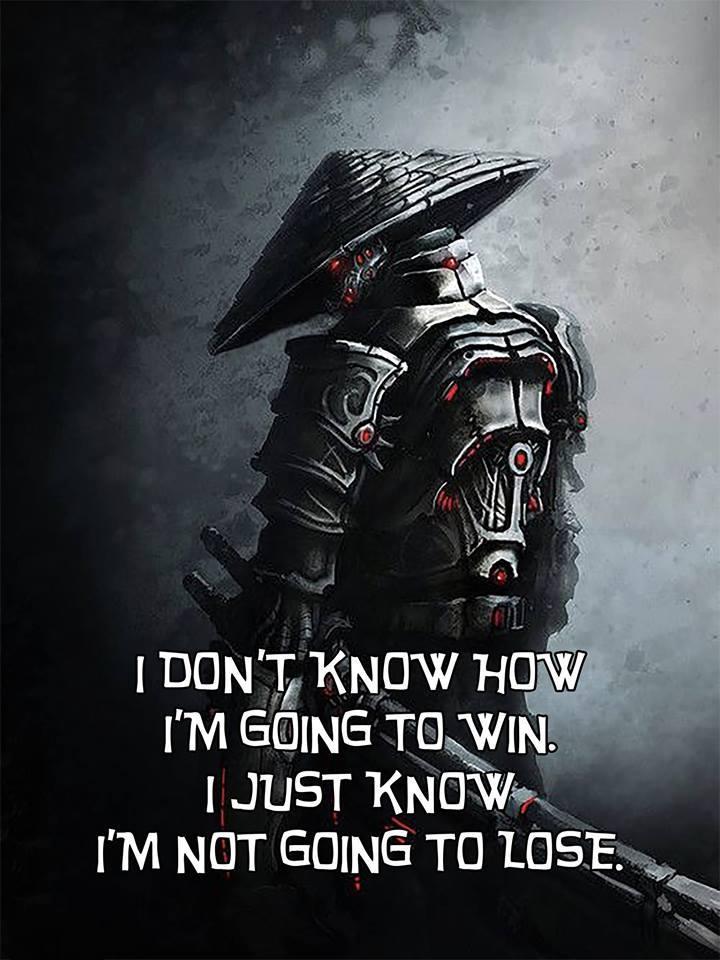No sé cómo voy a ganar; solo sé que no voy a perder