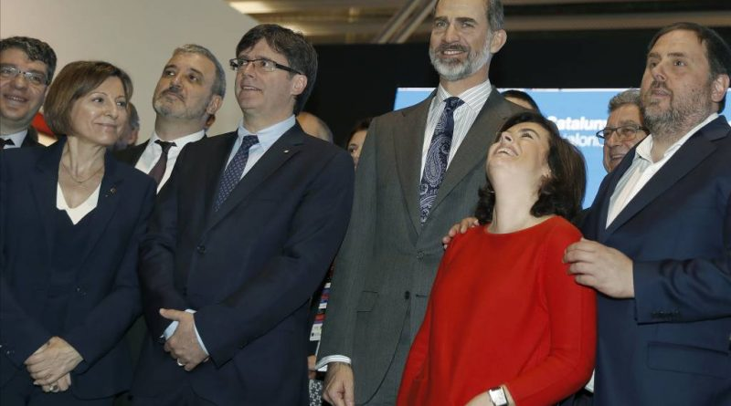 Oriol Junqueras con Soraya Sáenz de Santamaría