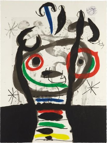 Le grand sorcier (the great wizard y El gran hechicero) de Joan Miró. 1968