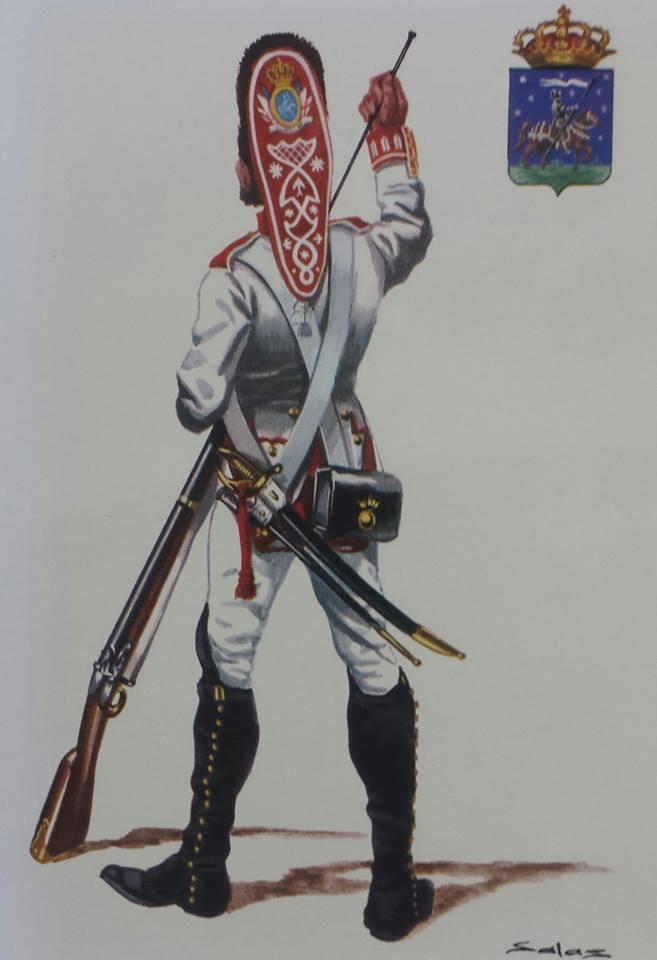 Granadero del regimiento de Infanteria de Guadalajara, Tercio de los Tigres.