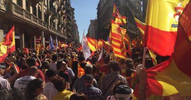 Manifestación 8-O en Barcelona