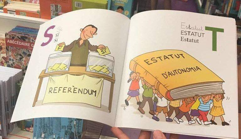 """Para referéndum no ponen la R, ponen el SO o SI con las dos manos. Y para la """"Y"""" estatut, me imagino que irán con él a la basura."""