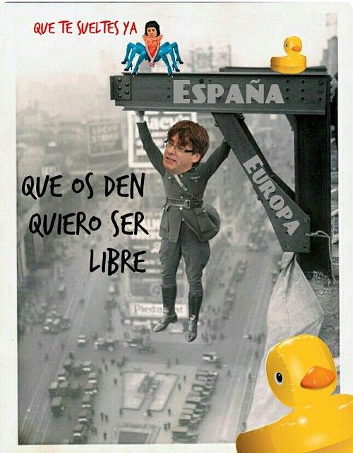 Puigdemont quiere ser libre sin honor. Ilustración de Linda Galmor