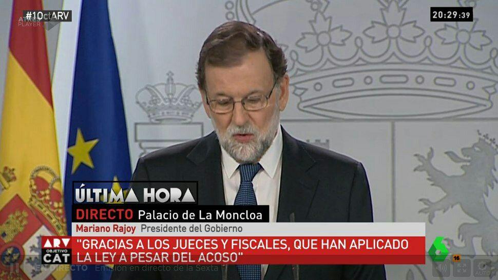 Rajoy agradece el apoyo del PSOE