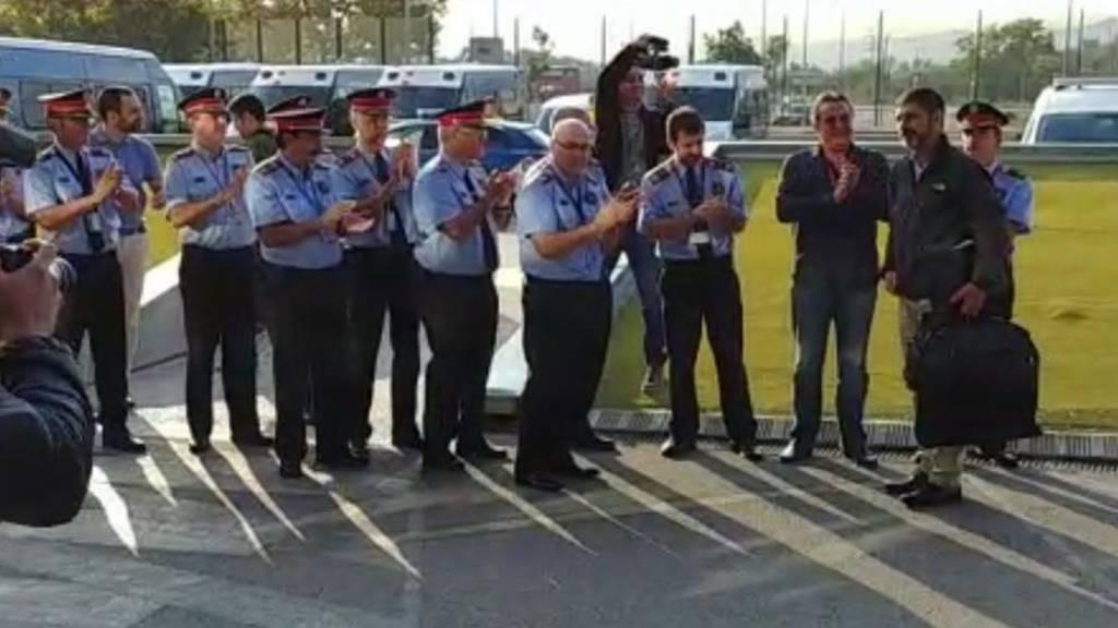 Trapero a la llegada al complejo central en Sabadell (Barcelona)