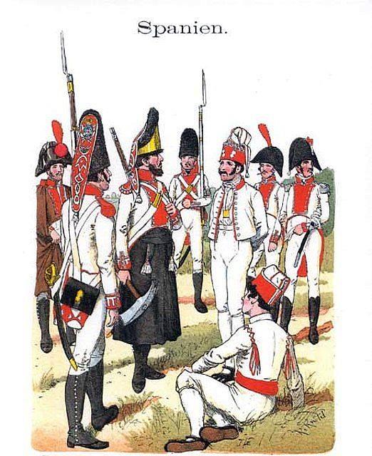 Uniformes del regimiento de Infantería de Guadalajara.