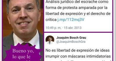 urú de Cuatro condena el 'acoso fascista a Mónica Oltra' olvidando sus apoyos a los escraches al PP en 2013