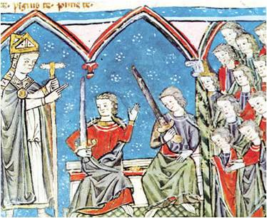 Alfonso VII de Castilla recibe vasallaje de Ramón Berenguer IV