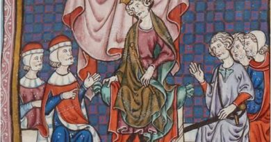 Consejo de nobles presidido por Jaime II de Aragón.
