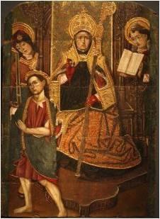 Tabla de San Martin Lascuarre. La Pintura sobre tabla de San Martín Obispo (siglo XV)