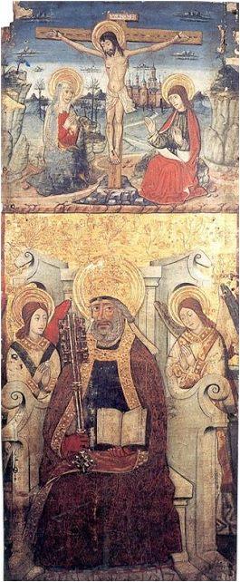 Tabla de San Pedro y Crucifixión de Peralta