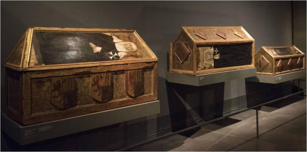 Tres sepulcros del monasterio de Sijena (Huesca) expuestos en el Museo de Lérida