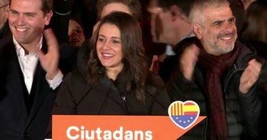 Arrimadas, tras ganar las elecciones en Cataluña