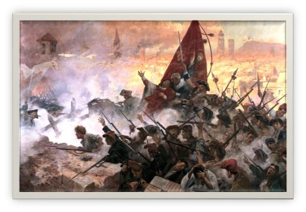 Asalto final de las tropas borbónicas sobre Barcelona