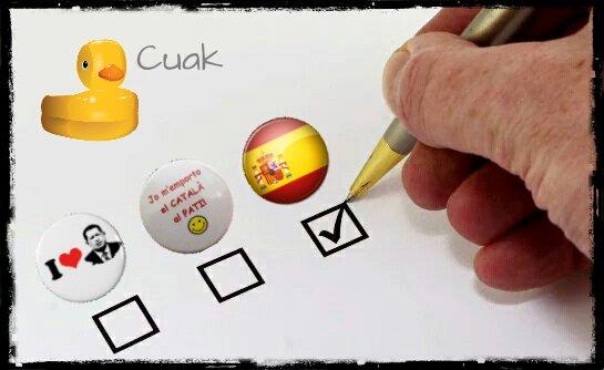 Elecciones catalanas. Fácil! Ilustración de Linda Galmor