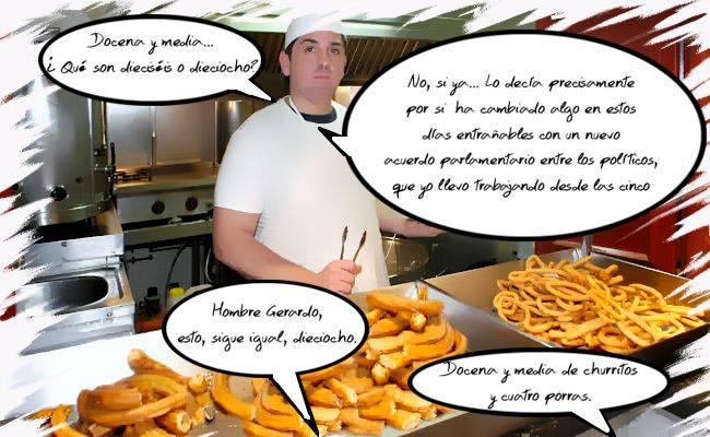 la docena y media de churros que en España ya suma dieciséis. Ilustración de Nacho Díaz