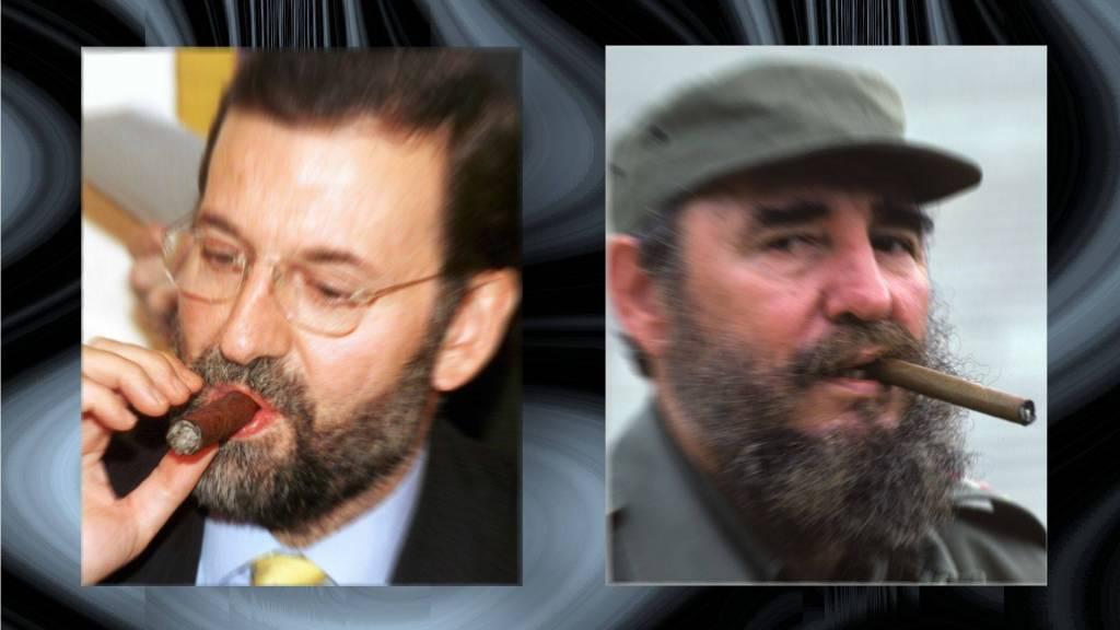 Aunque te fumes Marianico los puros como hacía Fidel, eres mucho más tonto que el fallecido dictador