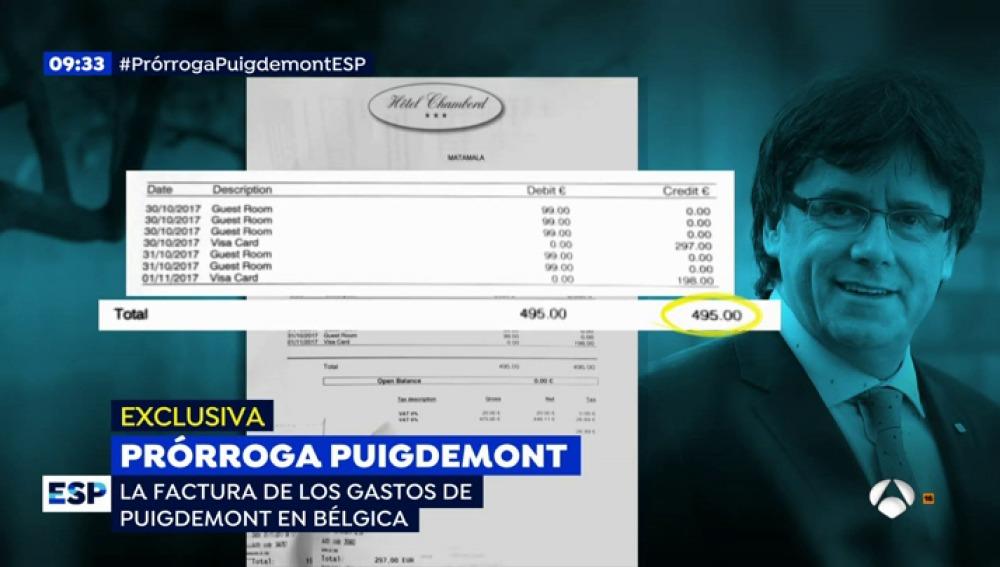 Los gastos Puigdemont