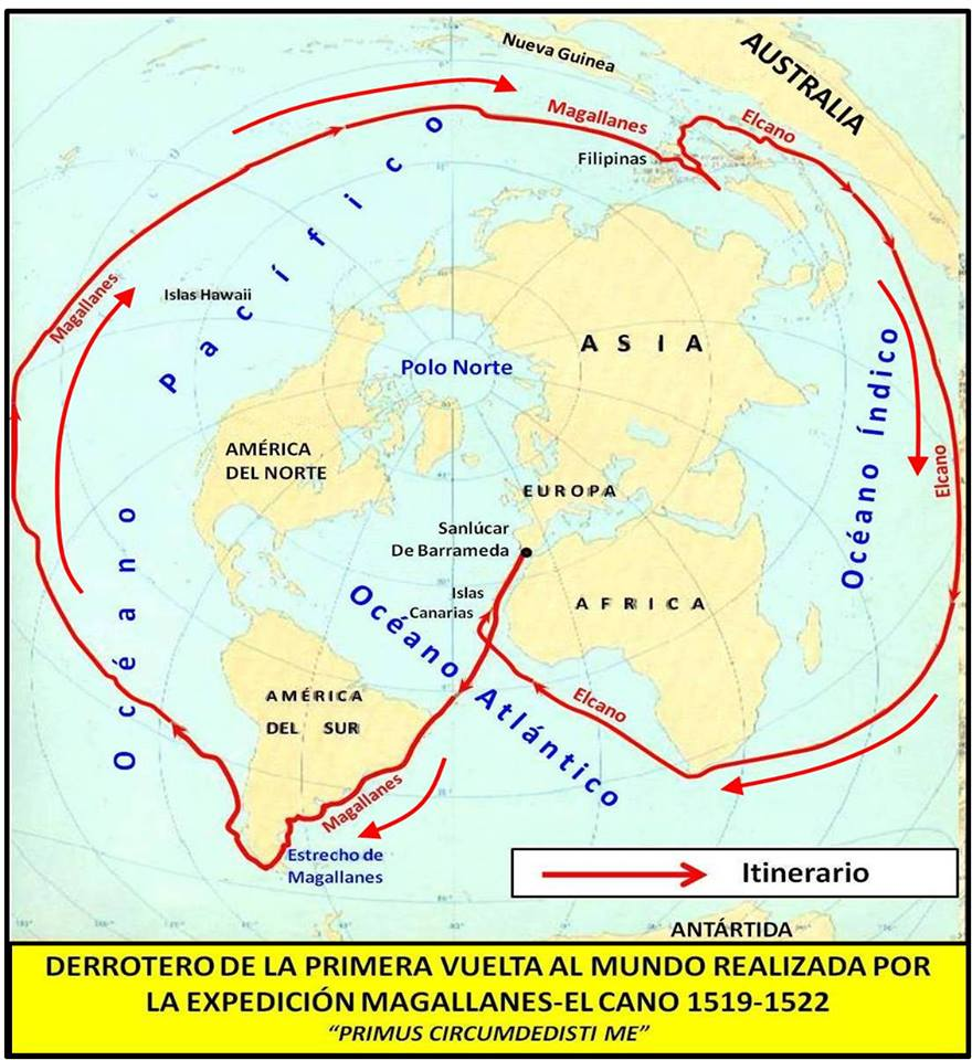 Derrotero de la primera vuelta al mundo realizada por la expedición de Magallanes-El Cano